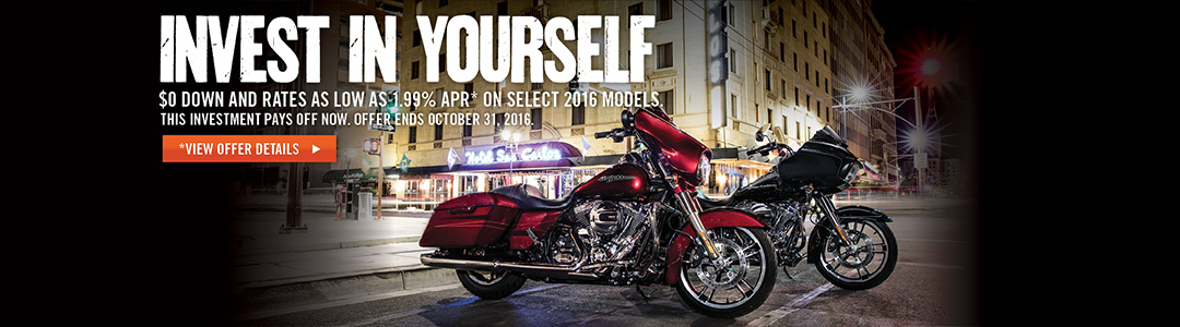 Special Financing rates on select 2016 models.