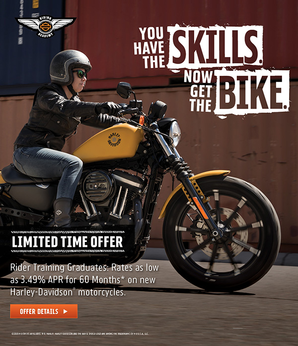 Riding Academy Graduate special financing offer.
