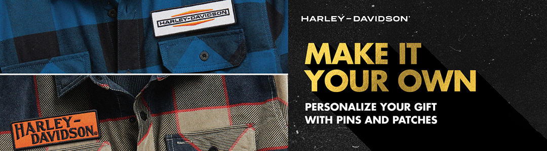 Make it Your Own. Personalize your gift with pins and patches.