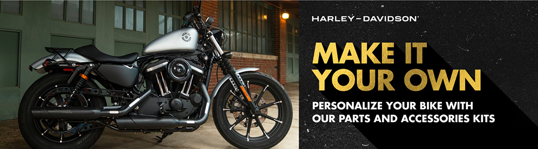 Make it Your Own. Personalize your bike with our Parts and Accessories kits.