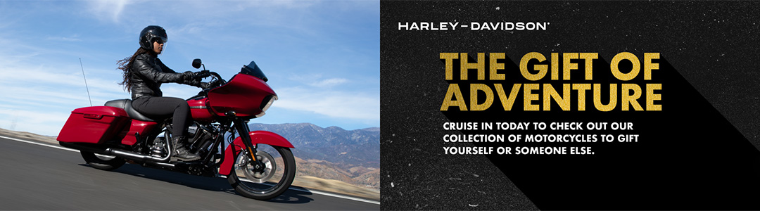 The Gift of Adventure. Cruise in today to check out our collection of motorcycles to gift yourself or someone else.